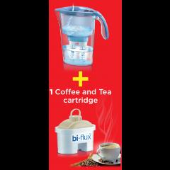 Limited Box LAICA Wasserfilter Serie 3000 Steam Line J434H Lavender/ Blue + Coffee & Tea Kartusche